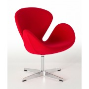 Replica Swan Chair - Wool Blend - Red