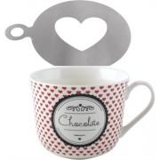 C.T.5164830 Szives bögre 400ml, szív mintázóval, Hot Chocolate