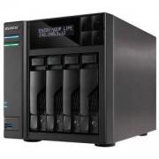 Мрежов сторидж Asustor AS6404T, 4-Bay NAS, Intel Apollo Lake Quad-Core, 8 GB SO-DIMM DDR3L, GbE x 2, USB 3.0 x 4 (Type A x3, Type C x1), WOW, AS6404T