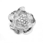Rózsás swarovski kristályos gyűrű 057