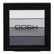 Gosh Smokey Eyes Palette 04 Blue грим палитра сенки за очи с опушен ефект