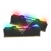 DDR4, KIT 16GB, 2x8GB, 3200MHz, Patriot Viper RGB, Black (PVR416G320C6K)