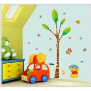Jaamso Royals ' Winnie the Pooh Paradise Home Decor Cartoon' Wall Sticker (PVC Vinyl 70 cm X 50 cm Decorative Stickers)