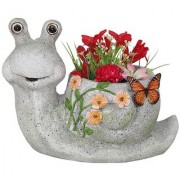 Wonderland Snail planter made or resin stone finish planters pot animal statue garden pot and planters garden planters balcony dcor garden dcor home decoration items gift kids room