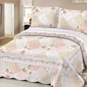 Pack x 2 Cubrecama Quilt Mantra, Cover, 2 1/2 Plazas / QUEEN PATCH PINK