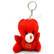 Faynci I Love You Red Cute Teddy Bear Key Chain for Friendship and valentine day Gift