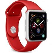 PURO ICON Apple a Watch Band - sport elastice Apple a ceas 42/44 mm (S / M & M / L) (roșu)