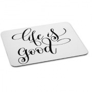 100yellow Mouse Pad | Life is A Good Quote Printed Mouse Pad Anti Skid Mouse Pad for Desktop and Laptop Computer- White
