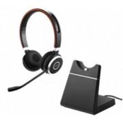 Casti Stereo Jabra Evolve 65+ UC, Bluetooth, Microfon (Negru)