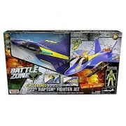 MOTOR MAX - BATTLE ZONE - ELECTRONIC F-22 RAPTOR FIGHTER JET POSEABLE FIGURE
