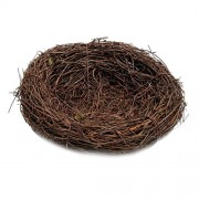 ELECTROPRIME® 12cm Rattan Vine Bird Nest Feeder Bird House Feeder Creative Gift Present