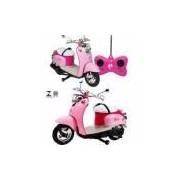 Moto Barbie Carrinho Controle Remoto Dream 7 Funções Candide