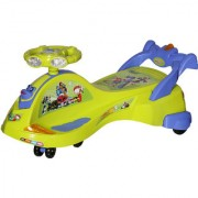NHR KidsDeluxe Free Wheel Magic swing concept car Ride-on(Yellow)