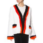 【58%OFF】KULE ラビットファー ダブルライン カーディガン ホワイト 02 ファッション > レディースウエア~~その他トップス