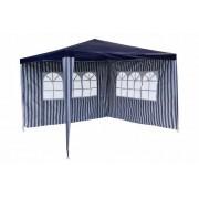 Kerti parti sátor GARTHEN – kék 3 x 3 m + 2 oldalfallal