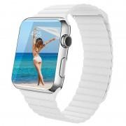 Apple Watch Series 5/4/3/2/1 Premium Leather Strap - 40mm, 38mm - White