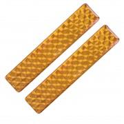 Fényvisszaverő matrica 2db-os 2x10cm műgyantás narancssárga 722