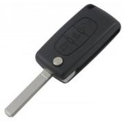 Carcasa cheie cu 3 butoane Citroen C2 C3 C4 C5 C6 C8 (contine logo)