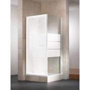 Schulte Home Paroi latérale pour porte de douche pivotante Vita, 80 cm, verre dépoli light, profilé blanc