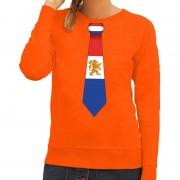 Shoppartners Oranje Holland stropdas sweater dames