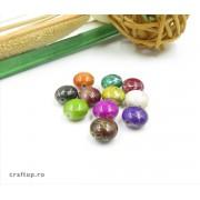 Mărgele ovale cu linie aurie (100g)
