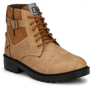 Eego Italy Beige Synthetic Stylish High Top Casual Boots