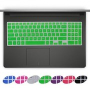 Forito Thin Dell Keyboard Cover for 15.6-inch DELL Laptop Inspiron 15 i5558 Dell Inspiron 15 3000 5000 Inspiron 17 5000 series laptop Keyboard Protector Dell Inspiron 15 Laptop US Layout(Green)