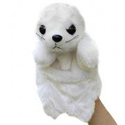 SUNONE11 Animals Educational Puppets Sea Lions Glove Toys Plush Hand Puppet for Children Birthday Christmas Story Telling Props