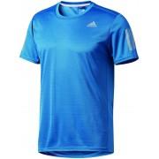 adidas Response Hardloopshirt korte mouwen Heren blauw M 2017 Hardloopshirts