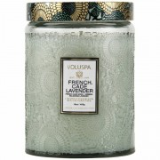 Voluspa French Cade & Lavender Large Glass Jar Candle (100h)