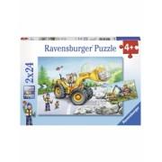 Puzzle Utilaje La Munca, 2X24 Piese Ravensburger