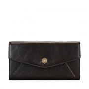 Maxwell-Scott große Damen Leder Geldbörse mit Bügelverschluss in Dunkelbraun - Marcialla - Brieftasche, Portemonnaie, Geldbeutel, Kreditkartenetui