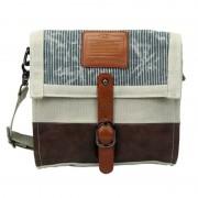 Licence 71195 Jumper Canvas Medium Shoulder Bag Beige LBF10871-BE