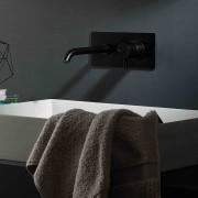 Ritmonio Mitigeur lavabo mural Diametro35 noir - Longueur de la canne 21 cm E0BA0114C04