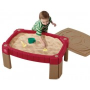Step2 Naturally Playful Sand Table Includes Cover, 2 Shovels, 2 Claw rakes, and a Bucket