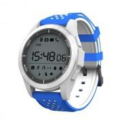 Ceas smartwatch F3 autonomie 12 luni, Android/iOS, notificari apeluri, sms, barometru, altitudine, albastru