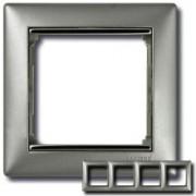 Рамка 4 поста Legrand Valena алюминий/серебряный