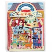 Детска книжка със стикери - домашни любимци, 19429 Melissa and Doug, 000772194297