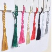 CARDMAKING BOOKMARK MINI TASSELS CRAFT BRIDAL 8 COLS