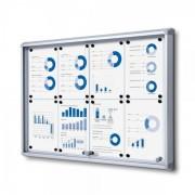 Jansen Display Interiérová vitrína 8xA4, posuvné dveře, metalová záda