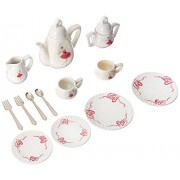 Delton Products Ballerina Tea Set For Two in Basket - 18 Pieces