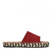 Manfield Rode suède slippers