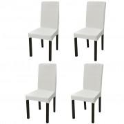 vidaXL 4 db nyujtható szék huzat krém
