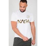 Alpha Industries NASA Reflective T-Shirt Vit 3XL