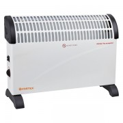 Convector Vortex VO-CHY02, 2000 W (max.), 3 trepte de încălzire, Termostat, Protecţie termică, Protecţie la supraîncălzire, Alb/negru