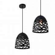 [lux.pro]® Lámpara de techo de diseño con motivos negra - metal