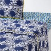 Bedrukt laken in zuiver katoen, Blue Riviera