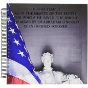 3dRose db_88984_2 Washington Dc Lincoln Memorial and American Flag US09 BJA0076 Jaynes Gallery Memory Book 12 by 12-Inch