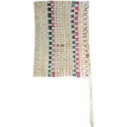 Nupremo Woven Beige Hand Fan(Pack of 1)