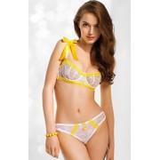 Sunshine biustonosz soft 853C (biało-żółty)
